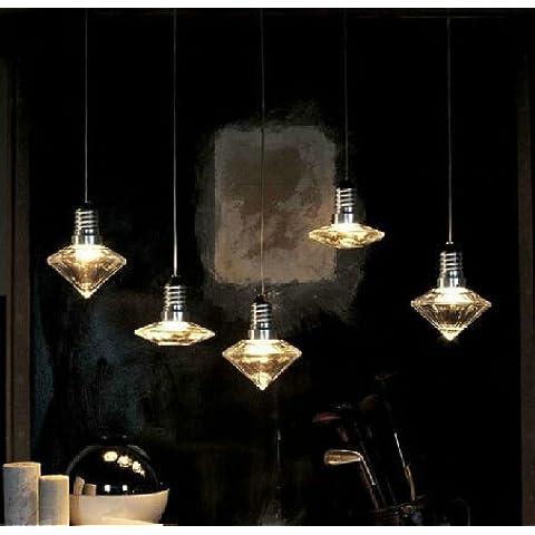 Las lámparas colgantes de cristal de diamante de diseño creativo, vase OVNI Luces luces de forma colgante de cristal lámpara colgante decoración de hogar precio/pc #423