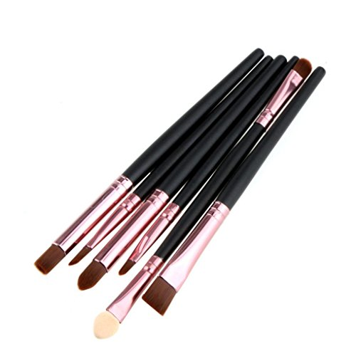 Coloré(TM) 6 Pcs Kit de Mini Pinceau de Maquillage Cosmétique Professionnel Ensembles Outils Pinceau Poudre Fond de teint Makeup Brushes Or +Blanc (Or)