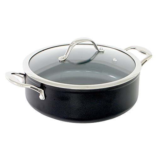 ProCook Professional Ceramic Induction Non-Stick Shallow Casserole With Lid 24cm / 3.6L - PRIME SUMMER DEAL!