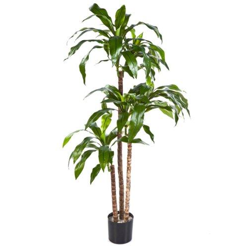 artplants – Deko Dracaena Fragrans Staude Laura, grün, 120 cm – naturgetreuer Kunstbaum/Künstliche Dracena