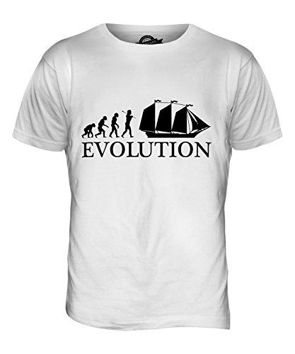 CandyMix Schoner Evolution Des Menschen Herren T Shirt Weiß
