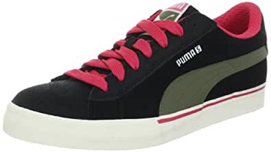 Puma S Low City 353850, Herren Sportive Sneakers, Schwarz (black-burnt olive-teaberry 02), EU 36 (UK 3.5) (US 4.5)