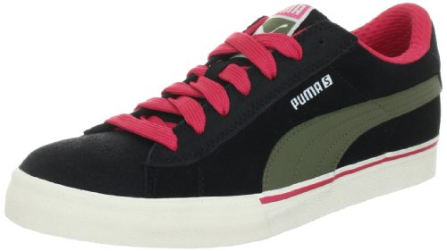Puma S Low City 353850, Herren Sportive Sneakers, Schwarz (black-burnt olive-teaberry 02), EU 37 (UK 4) (US 5)