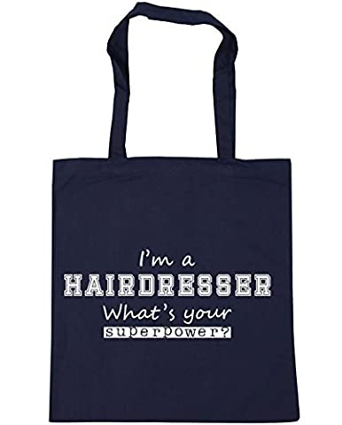 HippoWarehouse I'm a Hairdresser What's Your Superpower? Tote Shopping Gym Beach Bag 42cm x38cm, 10 litres