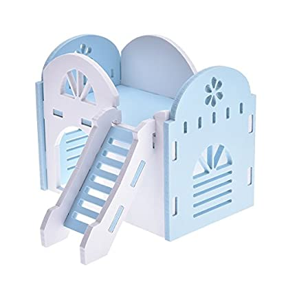 Pet House Hamster Bear Syrian Double-Deck Sea Villa Small For All Year Round Animal Hideout Deluxe Two Layers Eco… 7