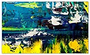 999Store Wooden Framed Printed Landscape Fragment Abstract Art Panel Likes Canvas Painting (24X36 Inches)