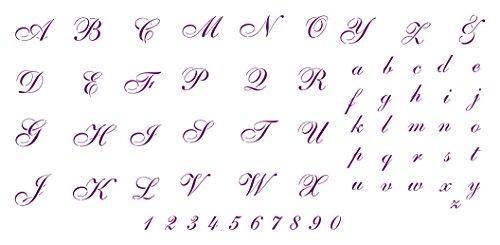 Schreiben Schablonen-wiederverwendbar in die Buchstaben Zahlen ABC Alphabet Schriftart Wand Schablone-Vorlage, auf Papier Projekte Scrapbook Tagebuch Wände Böden Stoff Möbel Glas Holz usw. m
