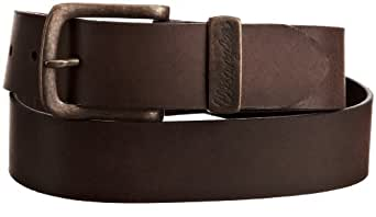 Wrangler Men's Basic Metal Loop Belt, Brown, 85cm