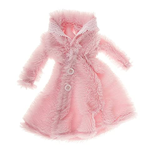 Puppenkleidung Pelzigen Mantel Für Barbie-Puppen - Rosa, /