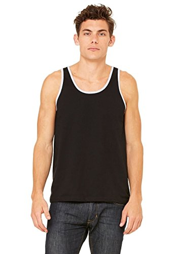 Bella, Motiv 3480 Unisex Jersey Big Tank Top - Black/Athletic Heather