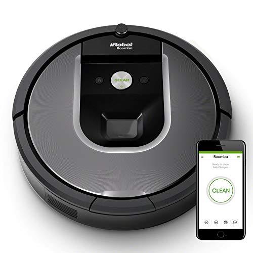 iRobot Roomba 960, aspirateur robot avec forte puissance d'aspiration, 2 brosses anti-emmêlement,...