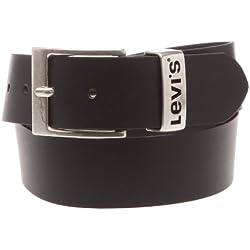 Levi's Ashland, Cinturón Hombre, Negro (Black), 90 cm (Talla del fabricante: 90)