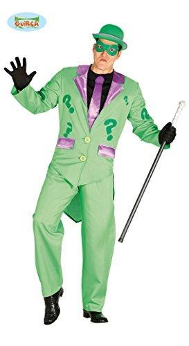 ster Incognito Riddler Kostüm - Frack Hose Maske Jabot mit Krawatte -  Gr.L (Herren Riddler-halloween-kostüm)