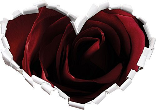 red-rose-heart-shape-in-the-3d-look-wall-or-door-sticker-format-92x645cm-wall-stickers-wall-decals-w
