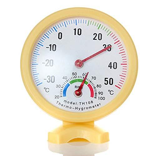 Neu Heimgebrauch Tragbare Mini Temperatur Feuchtigkeitsmesser Test Meter TH-108 Analog Thermometer Hygrometer Weiß/Ue/Gelb (Blau) - Gelb, Free Size