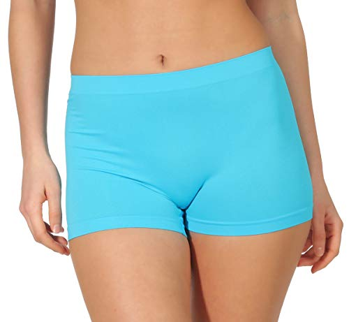simaranda 6er Pack Damen Slips Seamless Unterwäsche Panty Boxershorts Unterhose Microfaser 20 (XL/XXL, Farbig) - 6