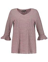 ad6247735ae6f5 Ulla Popken Große Größen Damen T-Shirt Ringelshirt mit Statementärmel