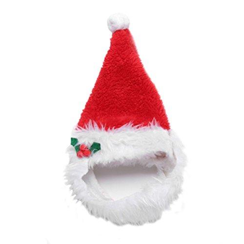 alkyoneus Pet Puppy Katze Weihnachten Hat Santa Bart Gap Hund Weihnachts verkleiden Kostüm