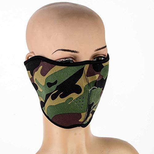 HUOYAN Neopren-Motorrad-halbe Gesichtsmaske-Sport-Radfahrer-Skateboard-Motorrad-Masken (Color : E) -