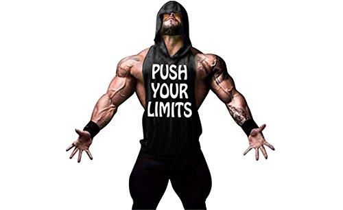 YeeHoo Chaleco para Hombres Deportivo Camiseta Sin Mangas de Tirante Sudadera con Capucha Gimnasio Músculo Formación Túnica Tank Top