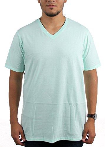 Hurley Herren Staple V-Neck T-Shirt, Small, Mint Foam (V-neck Hurley)
