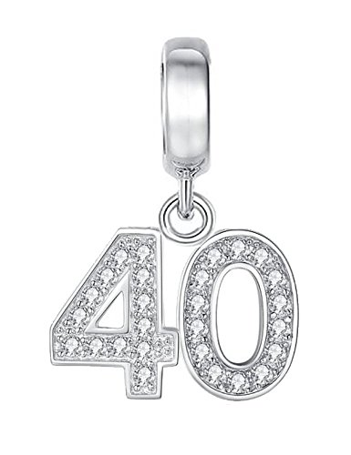 50th Birthday Celebration Charm Bead - Sterling Silver 925 - Gift boxed Y9xcbcAc