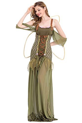 Frauen Fee Blumen Kostüm - Prettycos Halloween-Kostüm für Frauen Erwachsene, Märchen-Kostüm Gr. XX-Large, grün