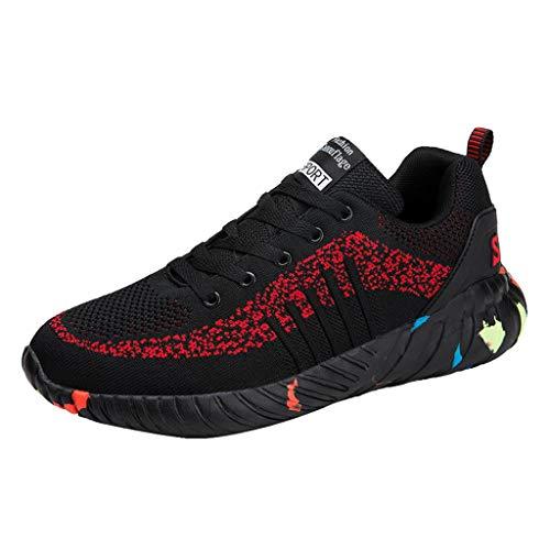 MISSQQScarpe Antinfortunistiche Uomo Sneakers Ginnastica da Lavoro Donna con Punta in Acciaio Sportive Sicurezza Maglia Stivali Leggere