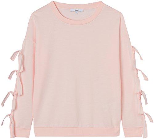 FIND Damen Pullover mit Ärmelausschnitten Rosa (Blush Mix), 36 (Herstellergröße: Small)