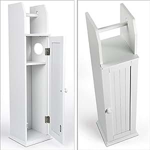 Relaxdays Toilettenpapierhalter WC Standgarnitur 78,5 x 18 x 20 cm