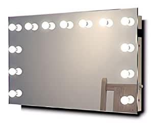 diamond x wallmount hollywood makeup mirror with cool white dimmable led k91cw. Black Bedroom Furniture Sets. Home Design Ideas