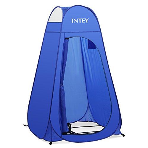 INTEY Duschzelt Umkleidezelt Pop-up Zelt als Abstell und Toilettenzelt für unterwegs, auch als Stauraum beim Camping (Blau)
