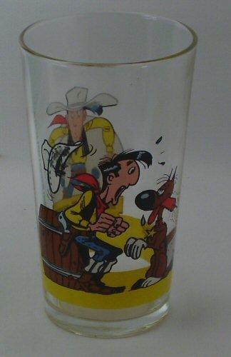 Lucky Luke - Amora - verre 96-C-2-D - n° 2 - Lucky Luke et Rantanplan bâton de dynamite - long-drink belge