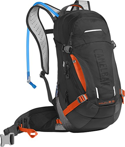 CamelBak Unisex M.u.l.e. Lr Hiking-Hydration-Packs Black/Laser Orange