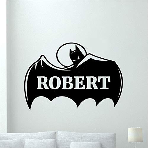 pegatinas decorativas pared Batman Etiqueta de la pared Decal Nombre personalizado Batman Etiqueta de la pared Superhéroes personalizados Vinilo Sticker Mural sala de estar