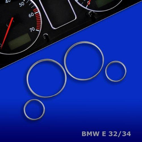 TR10E32 - CROMO TACHIMETRO  Anelli contachilometri , ANELLI CROMATI TACHIMETRO , Anelli per strumenti per BMW 5 er E32 E34(1988-1995)