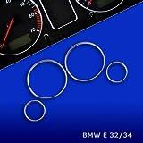untr10e32–Chromé tachoringe Convient pour BMW 5er E32E34Bj. 88–95,