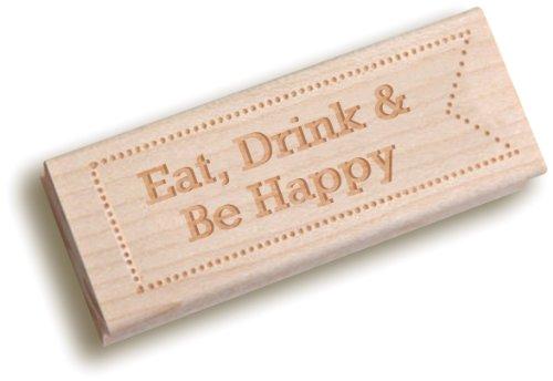 Kleid My Cupcake Vintage Holz Stempel, Eat Drink & Be Happy, Schreibmaschinenschrift 21-point