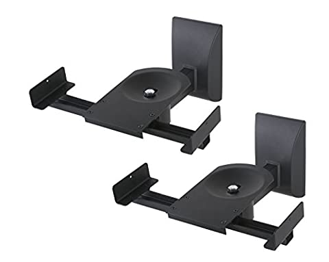 2 Pack: SWB201 Universal Speaker Wall Mounts - Rotate 360° , Tilt 7.5° w/ Conceal wires