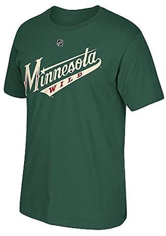 Zach Parise Minnesota Wild Reebok NHL Player Men's Green T-Shirt Chemise