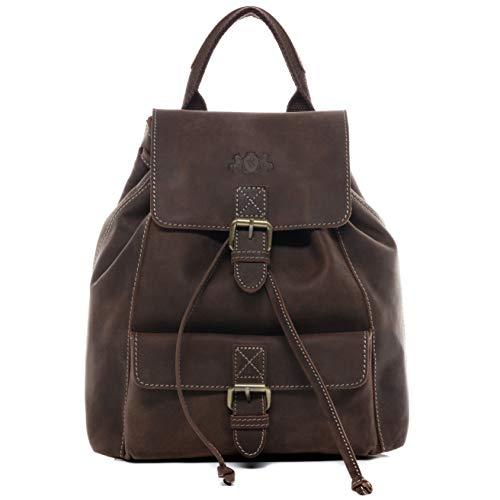 8c483704c77f9 SID   VAIN Rucksack Leder Susan klein Backpack Tagesrucksack Stadtrucksack Damen  Lederrucksack.