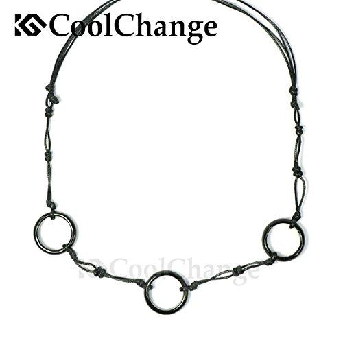 Collar Naruto de Itachi Uchiha con tres anillos hechos de ágata negra