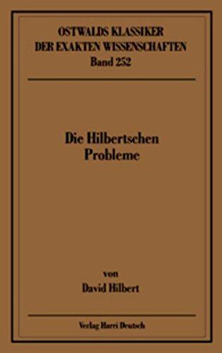 Die Hilbertschen Probleme (Hilbert)