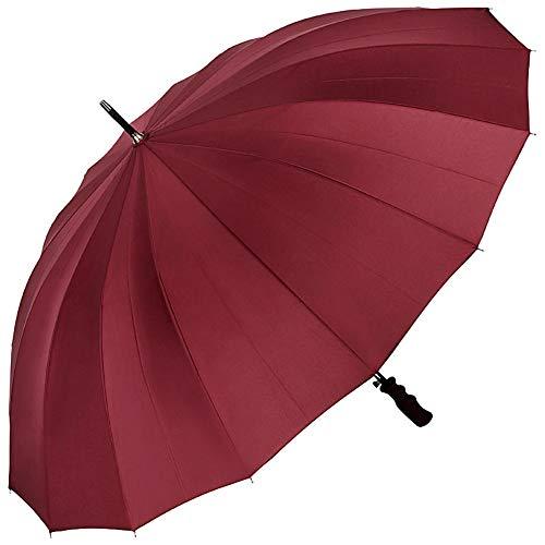 VON LILIENFELD Regenschirm Partnerschirm Automatik Damen Herren Fiberglas 16 Stangen Sehr Stabil Cleo Bordeaux Burgunderrot