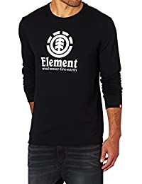 Tee shirt à manches longues Element Vertical Flint Noir