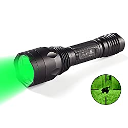 Ultrafire Led Torch Green Light Tactical Torch H-g3,bright 650 Lumens Hunting Torch,520-535 Nm Wavelength,professional Green Led Powerful Torch Waterproof Flashlight