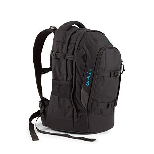 Satch Pack Black Bounce, ergonomischer Schulrucksack, 30 Liter, Organisationstalent, Schwarz - Jungen-bereich