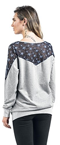R.E.D. by EMP Sheer Stars Sweater Girl-Sweat-Shirt grau Grau