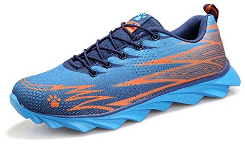 NEWZCERS Chaussures de sport en mesh respirant pour hommes femmes Bleu
