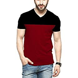 Veirdo Men's Cotton T-Shirt (Tsh_V26_Blkmrn_M_Black_Medium)